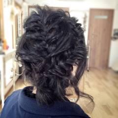 アップスタイル ヘアアレンジ コンサバ 編み込み ヘアスタイルや髪型の写真・画像