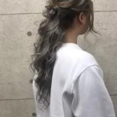 ハーフアップ 二次会 エレガント ロング ヘアスタイルや髪型の写真・画像