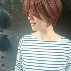 アンニュイ 透明感 ショートボブ フェミニン ヘアスタイルや髪型の写真・画像