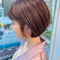 ショートヘア ナチュラル デート ショート ヘアスタイルや髪型の写真・画像