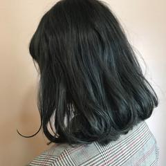 ナチュラル ボブ アッシュグレー ブルージュ ヘアスタイルや髪型の写真・画像
