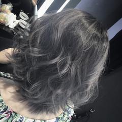 暗髪 外国人風 アッシュ 黒髪 ヘアスタイルや髪型の写真・画像