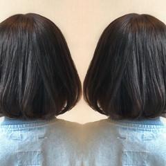 ナチュラル 暗髪 グレージュ グレー ヘアスタイルや髪型の写真・画像