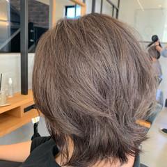 マッシュウルフ ミディアム デザインカラー ハイライト ヘアスタイルや髪型の写真・画像