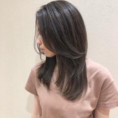 ウルフカット 透明感カラー 透明感 イルミナカラー ヘアスタイルや髪型の写真・画像