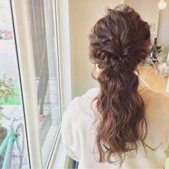 ショート 簡単ヘアアレンジ ロング 結婚式 ヘアスタイルや髪型の写真・画像