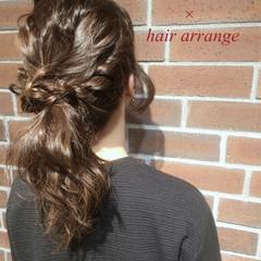 グレージュ ゆるふわ 簡単ヘアアレンジ ハーフアップ ヘアスタイルや髪型の写真・画像
