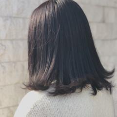 透明感 ミディアム 春 フェミニン ヘアスタイルや髪型の写真・画像