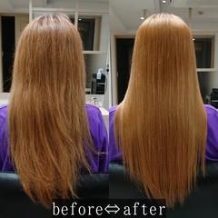 美髪 縮毛矯正 ロング 艶髪 ヘアスタイルや髪型の写真・画像