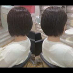 髪質改善トリートメント ショートボブ ベリーショート 髪質改善カラー ヘアスタイルや髪型の写真・画像