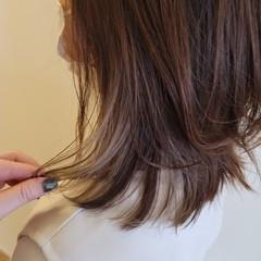 セミロング ミディアムレイヤー ミディアムヘアー ナチュラル ヘアスタイルや髪型の写真・画像