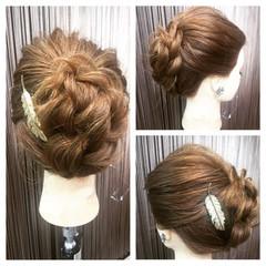 ヘアアレンジ ヘアアクセ セミロング ゆるふわ ヘアスタイルや髪型の写真・画像