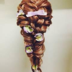 パーティ コンサバ ブライダル ヘアアレンジ ヘアスタイルや髪型の写真・画像