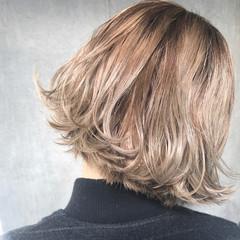アッシュ ボブ こなれ感 パーマ ヘアスタイルや髪型の写真・画像