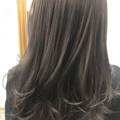 ナチュラル セミロング 黒髪 アッシュ ヘアスタイルや髪型の写真・画像