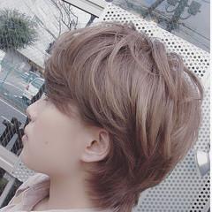 ショートヘア ショート パープル 大人ヘアスタイル ヘアスタイルや髪型の写真・画像