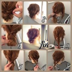 ショート ヘアアレンジ 波ウェーブ 簡単ヘアアレンジ ヘアスタイルや髪型の写真・画像