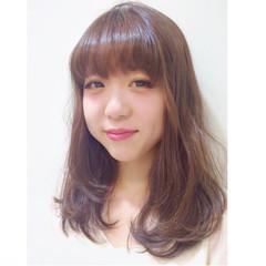 大人かわいい ガーリー ピュア ミディアム ヘアスタイルや髪型の写真・画像
