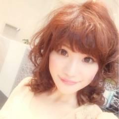 ピンク ミディアム コンサバ フェミニン ヘアスタイルや髪型の写真・画像