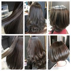 ロング ラベンダーアッシュ ブルージュ ストリート ヘアスタイルや髪型の写真・画像