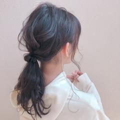 ヘアセット ふわふわヘアアレンジ ナチュラル ヘアアレンジ ヘアスタイルや髪型の写真・画像