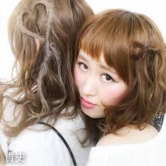 モテ髪 コンサバ ショート ゆるふわ ヘアスタイルや髪型の写真・画像