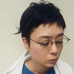 小顔 オン眉 ナチュラル 黒髪 ヘアスタイルや髪型の写真・画像