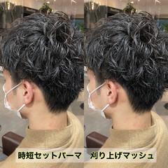 スパイラルパーマ メンズパーマ メンズマッシュ メンズカット ヘアスタイルや髪型の写真・画像