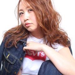ロング 外国人風 ストリート ウェットヘア ヘアスタイルや髪型の写真・画像