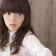 大人かわいい セミロング ゆるふわ ガーリー ヘアスタイルや髪型の写真・画像