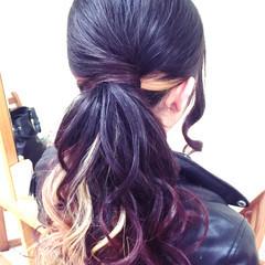 ポニーテール ヘアアレンジ 簡単 アップスタイル ヘアスタイルや髪型の写真・画像