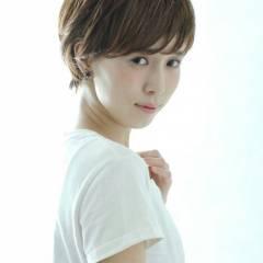 ショート モテ髪 フェミニン ナチュラル ヘアスタイルや髪型の写真・画像