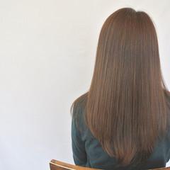 ロング コンサバ アッシュ 透明感 ヘアスタイルや髪型の写真・画像