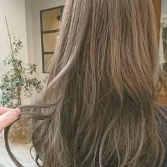 透明感 大人かわいい ロング オフィス ヘアスタイルや髪型の写真・画像
