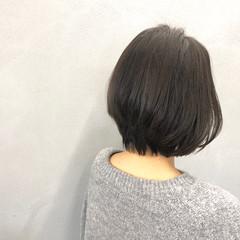 艶髪 ボブ ショートボブ ナチュラル ヘアスタイルや髪型の写真・画像