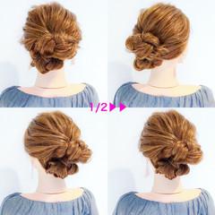 エレガント ロング 結婚式 簡単ヘアアレンジ ヘアスタイルや髪型の写真・画像