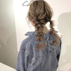 ガーリー ツインテール 簡単ヘアアレンジ デート ヘアスタイルや髪型の写真・画像
