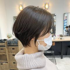 小顔ショート ショートボブ ナチュラル ショートヘア ヘアスタイルや髪型の写真・画像