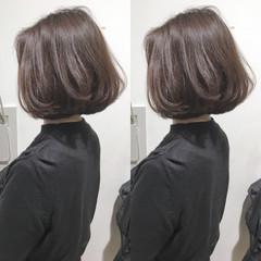 ショートボブ ボブ エレガント ナチュラル ヘアスタイルや髪型の写真・画像