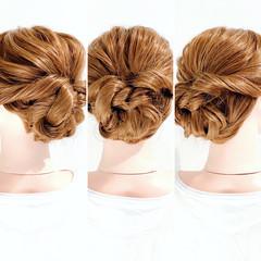 くるりんぱ まとめ髪 ヘアアレンジ ロング ヘアスタイルや髪型の写真・画像