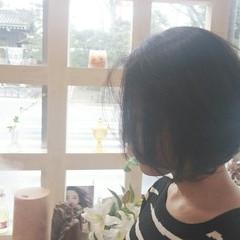 おフェロ 透明感 ボブ ナチュラル ヘアスタイルや髪型の写真・画像