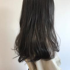 ガーリー アッシュグレージュ デート ロング ヘアスタイルや髪型の写真・画像