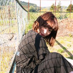 ヘアアレンジ ミディアム 抜け感 前髪あり ヘアスタイルや髪型の写真・画像
