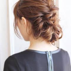 ナチュラル ゆるふわ モテ髪 アップスタイル ヘアスタイルや髪型の写真・画像