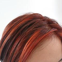 ブラットオレンジ ストリート デザインカラー ハンサムショート ヘアスタイルや髪型の写真・画像