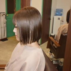 インナーカラー ボブ ミニボブ ホワイトベージュ ヘアスタイルや髪型の写真・画像