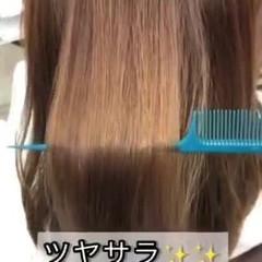 美髪 縮毛矯正 ツヤ髪 ナチュラル ヘアスタイルや髪型の写真・画像