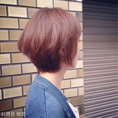 フェミニン アッシュ 大人かわいい ショート ヘアスタイルや髪型の写真・画像