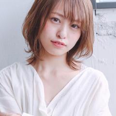 フェミニン ミディアム ひし形 デート ヘアスタイルや髪型の写真・画像