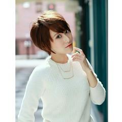 外国人風 ストリート ベリーショート ショート ヘアスタイルや髪型の写真・画像